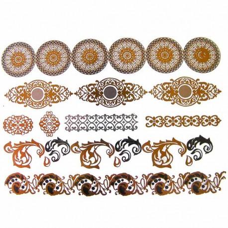 Tatouage Temporaire Metallique Mandala Et Chaine Cheville
