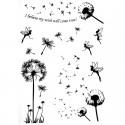 Tatouage ephemere fleur de pissenlit noire
