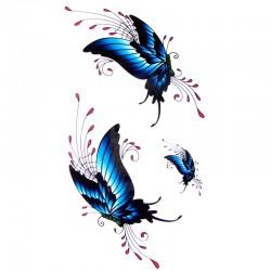 tatouage-ephemere-papillons-bleus