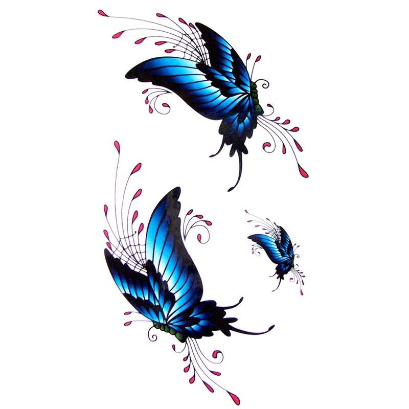 tatouage ph m re papillons bleus. Black Bedroom Furniture Sets. Home Design Ideas