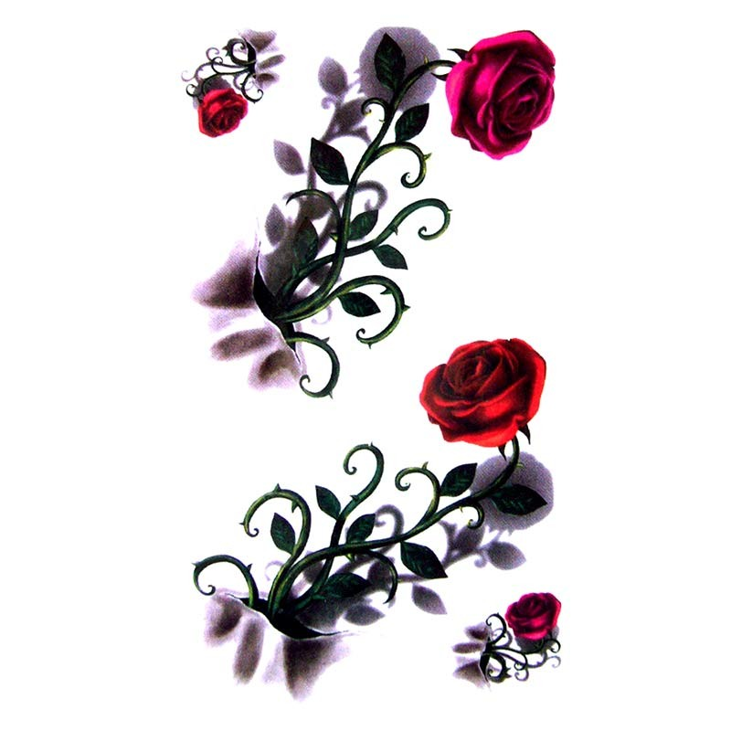 tatouage temporaire rosier 3d. Black Bedroom Furniture Sets. Home Design Ideas