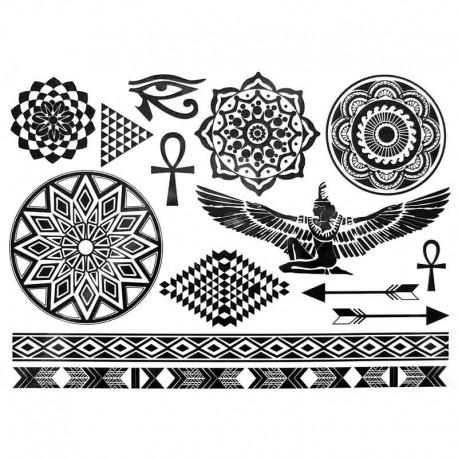 tatouage temporaire et ph m re cl op tre. Black Bedroom Furniture Sets. Home Design Ideas
