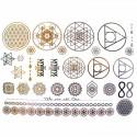 tatouages éphémères métalliques mandala et fleur de vie
