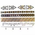 Tatouages éphémères métalliques graphique poignet