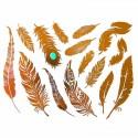 Tatouages bijoux éphémères métalliques plumes