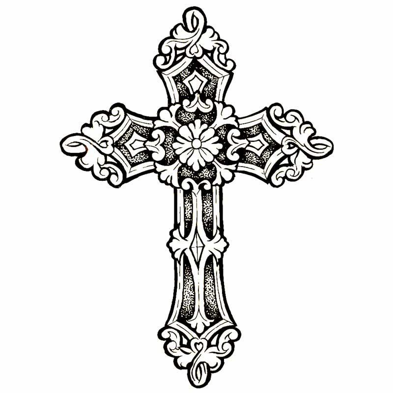 Favorit Tatouage temporaire croix NN04