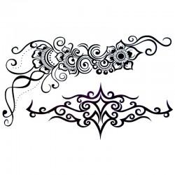 tatouage-temporaire-tribal-et-fleur
