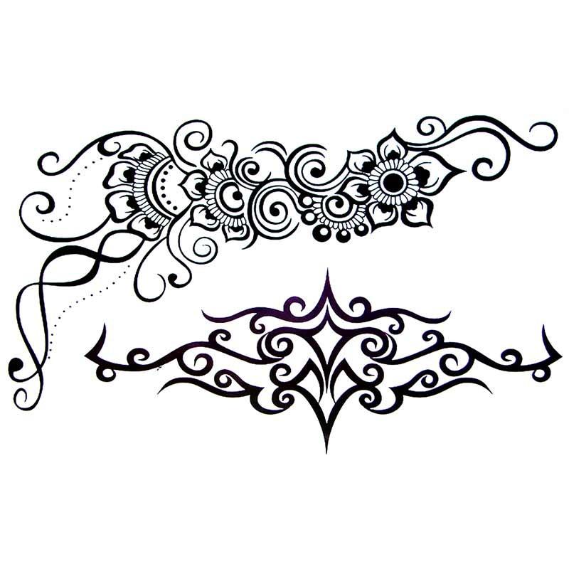 Tatouage temporaire tribal et fleur - Tattoo tribal fleur ...