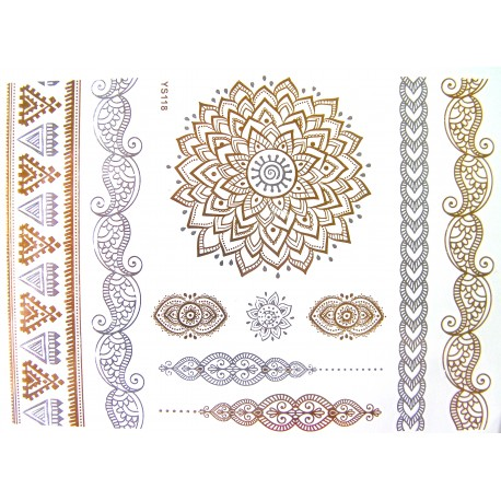 tatouage-bijou-ephemere-dore-et-agent-mandala
