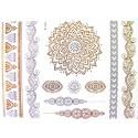 Tatouage bijou éphémère métallique mandala