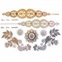 tatouage bijou éphémère métallique fleur henné