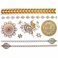tatouage-bijou-ephemere-dore-et-argent-mandala-et-coeur