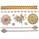 tatouage bijou éphémère métallique mandala et coeur