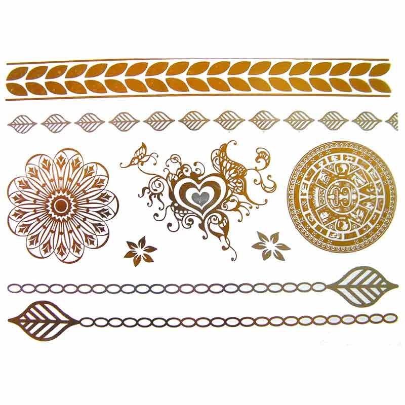 tatouage bijou ph m re m tallique mandala et coeur. Black Bedroom Furniture Sets. Home Design Ideas