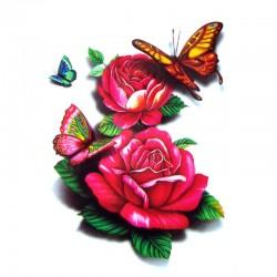 tatouage-temporaire-rose-rouge-3d