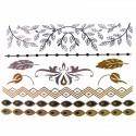 Tatouage bijou éphémère métallique nature