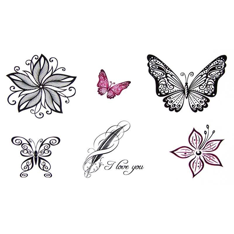tatouage temporaire et ph m re papillon dentelle. Black Bedroom Furniture Sets. Home Design Ideas