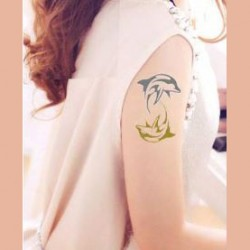 tatouage-ephemere-dore-et-argent-dauphin