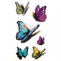 Tatouage temporaire papillon 3D