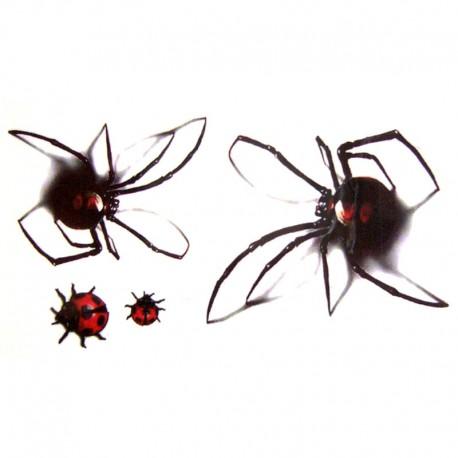 tatouage-ephemere-araignee-et-coccinelle