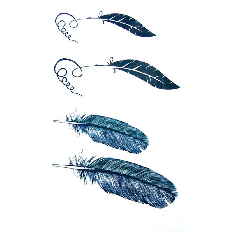 tatouage temporaire et 233ph233m232re plumes et lettrage